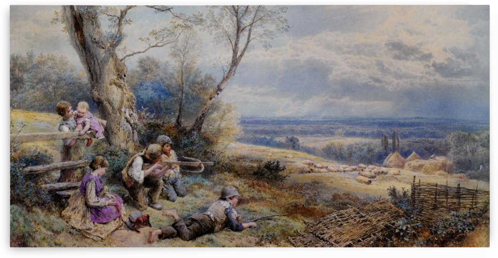 A sure and steady aim by Myles Birket Foster