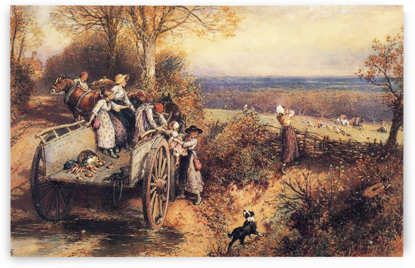 A peep at the hounds by Myles Birket Foster