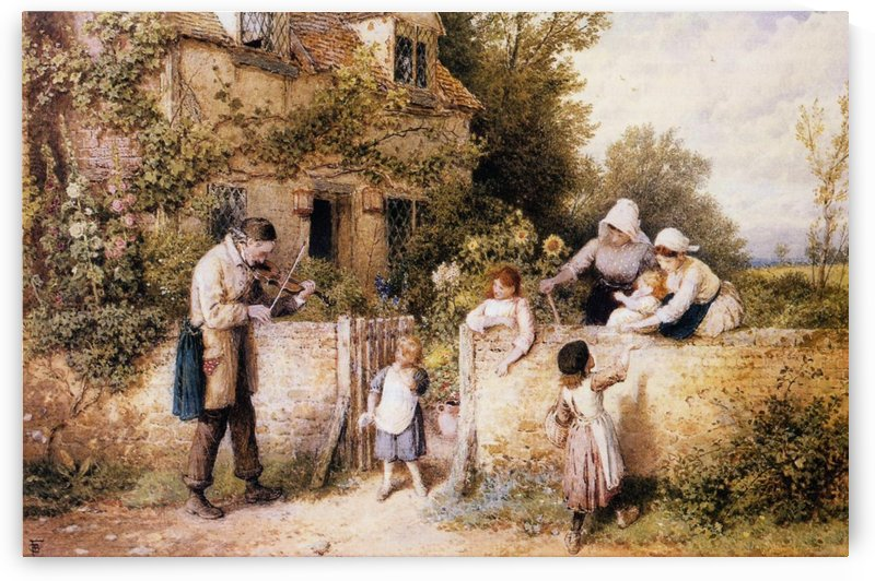 The itinerant fiddler by Myles Birket Foster