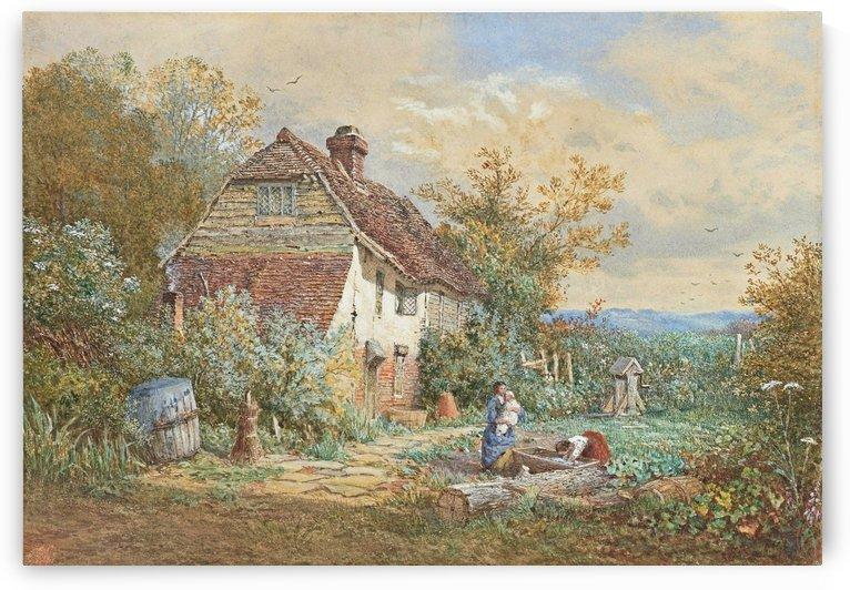 In the garden by Myles Birket Foster