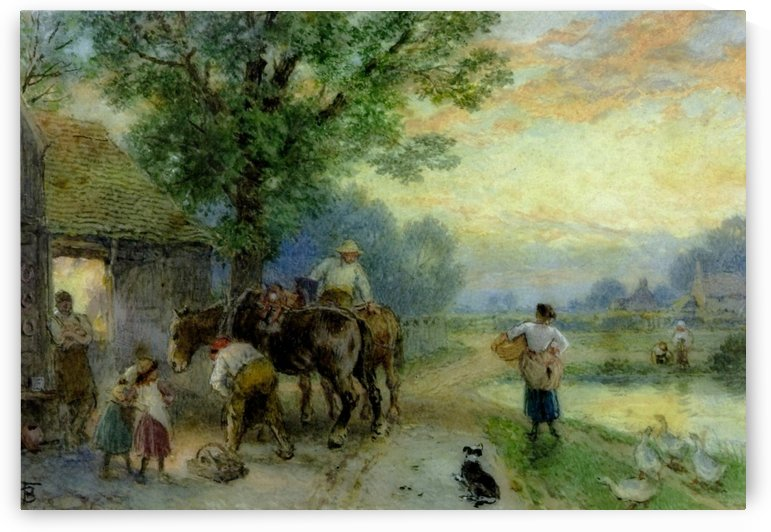The Smithy by Myles Birket Foster