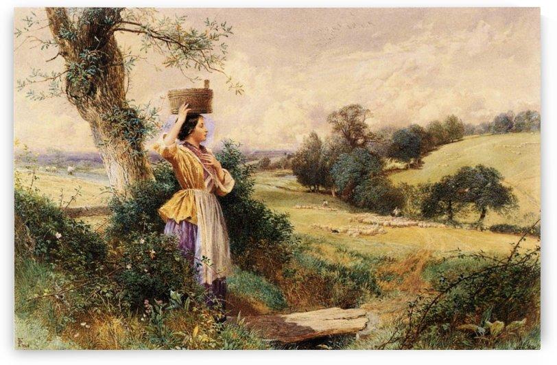 The Milk-maid by Myles Birket Foster