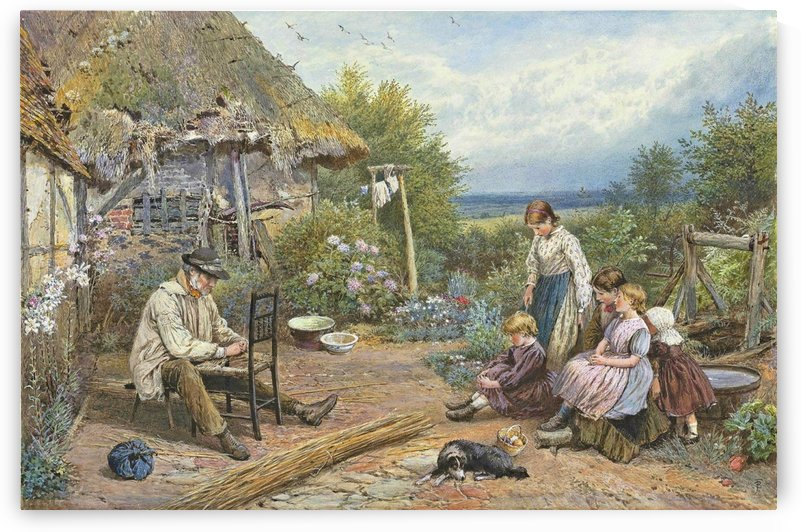The old chairmender by Myles Birket Foster