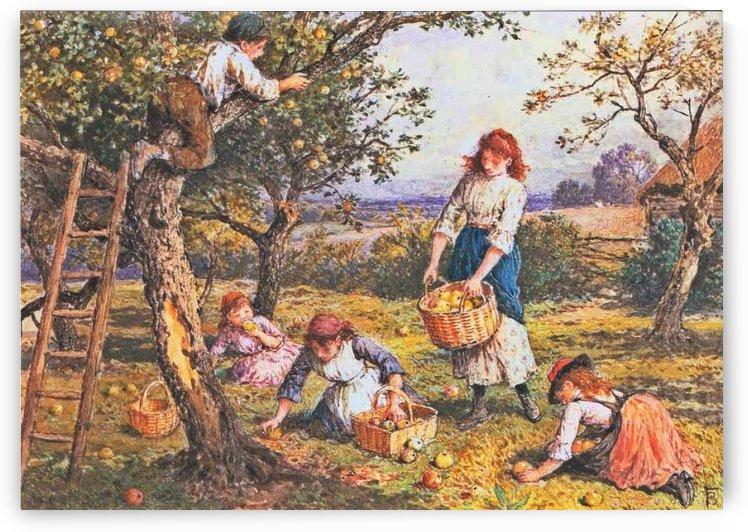 Apple harvest by Myles Birket Foster