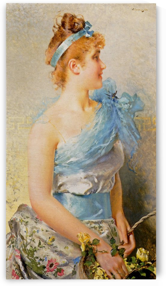 A spring beauty by Vittorio Matteo Corcos