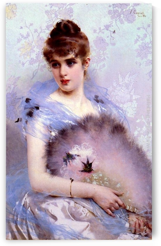 The feathered fan by Vittorio Matteo Corcos