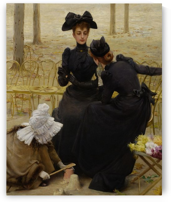 Conversation in the Jardin du Luxembourg by Vittorio Matteo Corcos