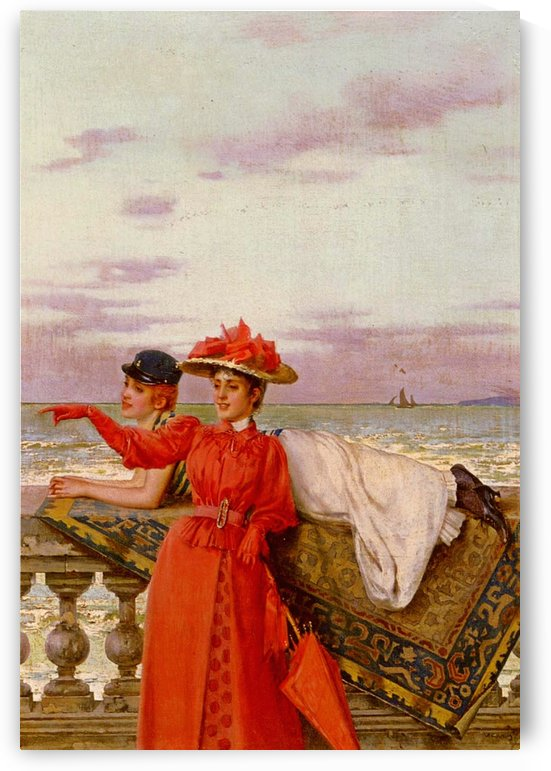 Looking out to sea by Vittorio Matteo Corcos