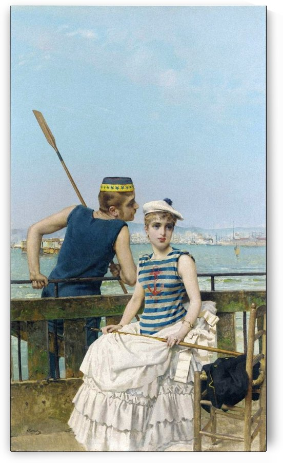 At The Regatta, 1884 by Vittorio Matteo Corcos