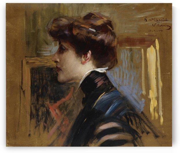 Portrait of Madame Capiello by Vittorio Matteo Corcos