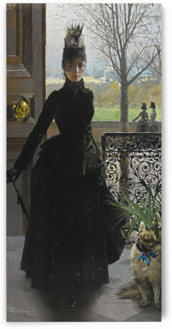 An elegant lady by Vittorio Matteo Corcos