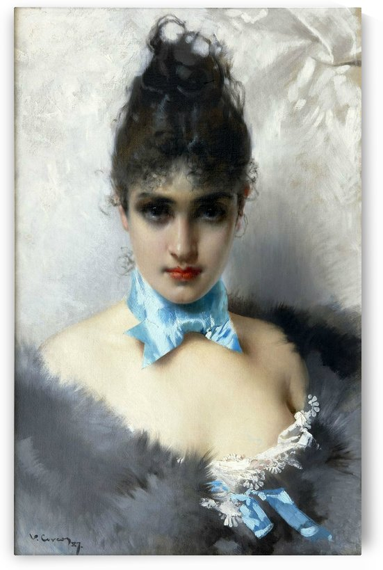 Portrait of an elegant woman by Vittorio Matteo Corcos
