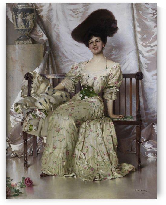Portrait der Contessa Nerina Pisani Volpi di Misurata by Vittorio Matteo Corcos