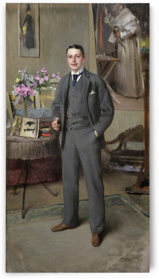 Herrenportrait 1890 by Vittorio Matteo Corcos