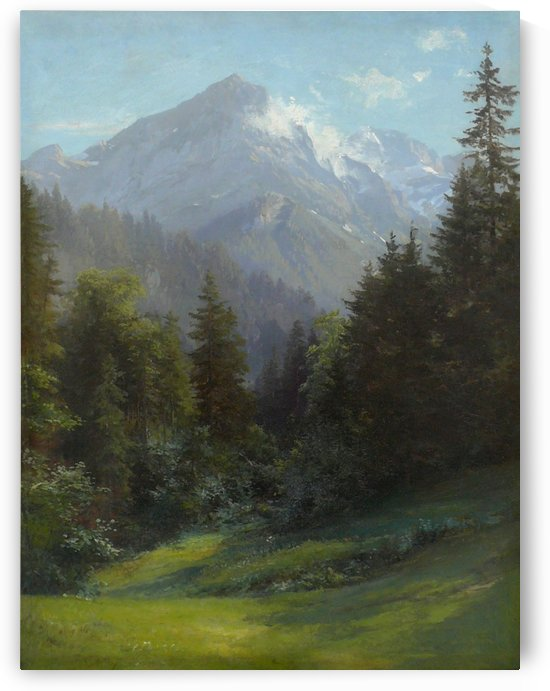 Summer landscape in Alps by Edward Theodore Compton