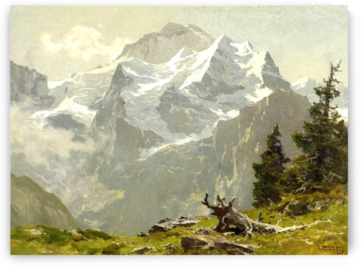 Snowcaps by Edward Theodore Compton