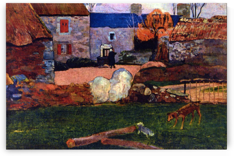 Farm at the Pouldu by Gauguin by Gauguin