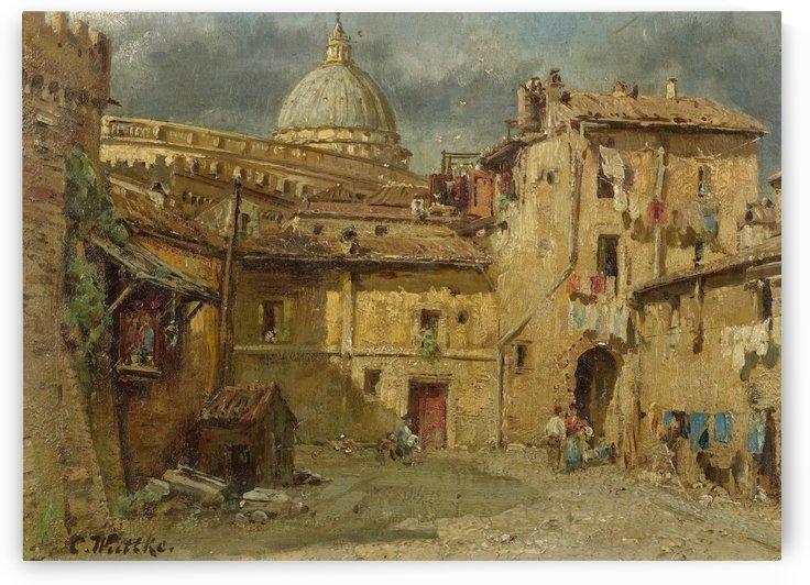 In den Strassen von Rom by Carl Wuttke