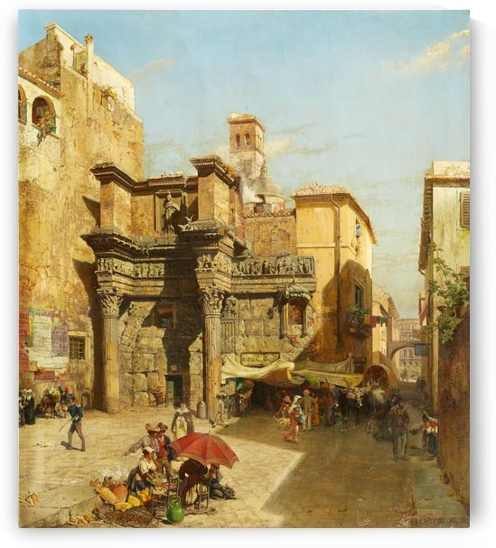 The Temple of Minerva in Rome by Carl Wuttke