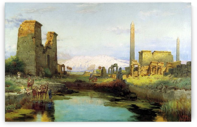 The Temple of Karnak 1911 by Carl Wuttke