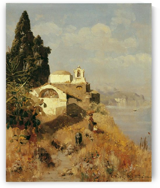 On Ischia in Casamicciola by Carl Wuttke