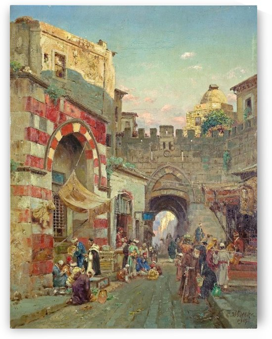 Town gate in Jerusalem by Carl Wuttke