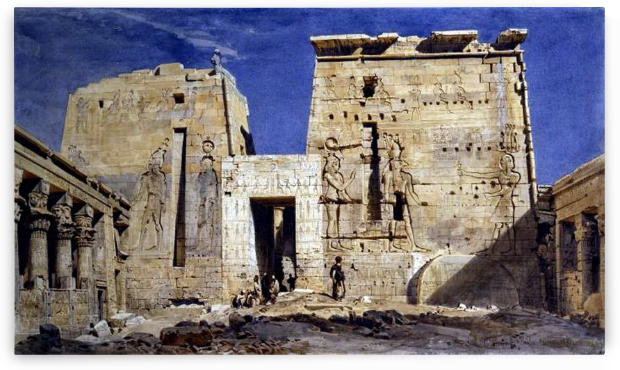 Temple of Isis at Philae by Carl Werner