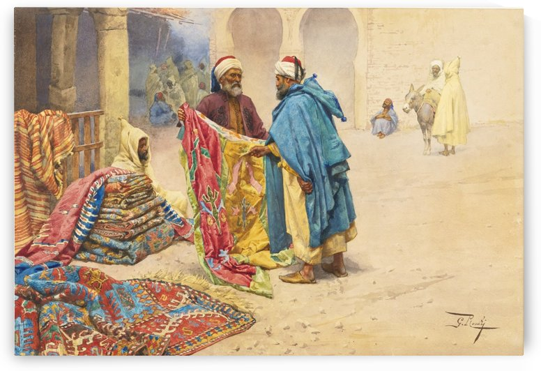The rug merchant by Carl Werner