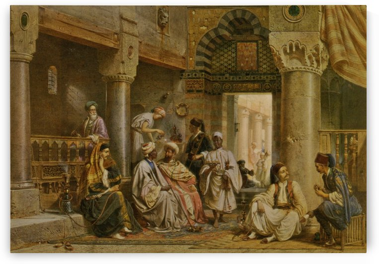 The coffee house by Carl Werner