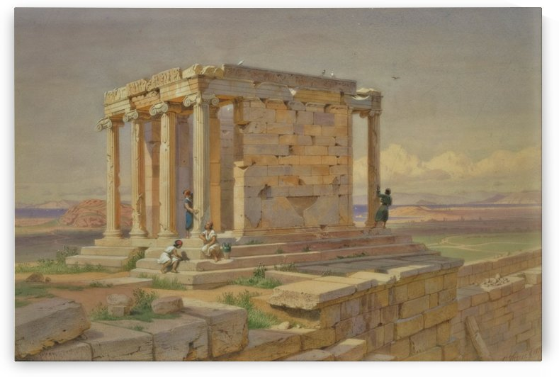 The Temple of Athena Nike by Carl Werner