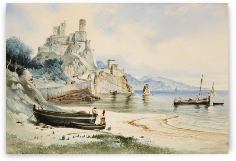 Sicilian Coastal Landscape by Carl Werner
