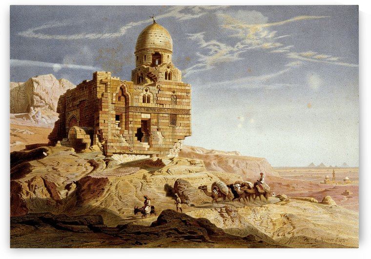 Tomb of Sultan Barsbai in Cairo by Carl Werner