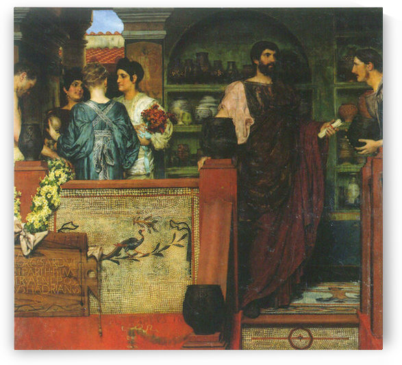 Hadrian visiting a Roman-British pottery by Alma-Tadema by Alma-Tadema