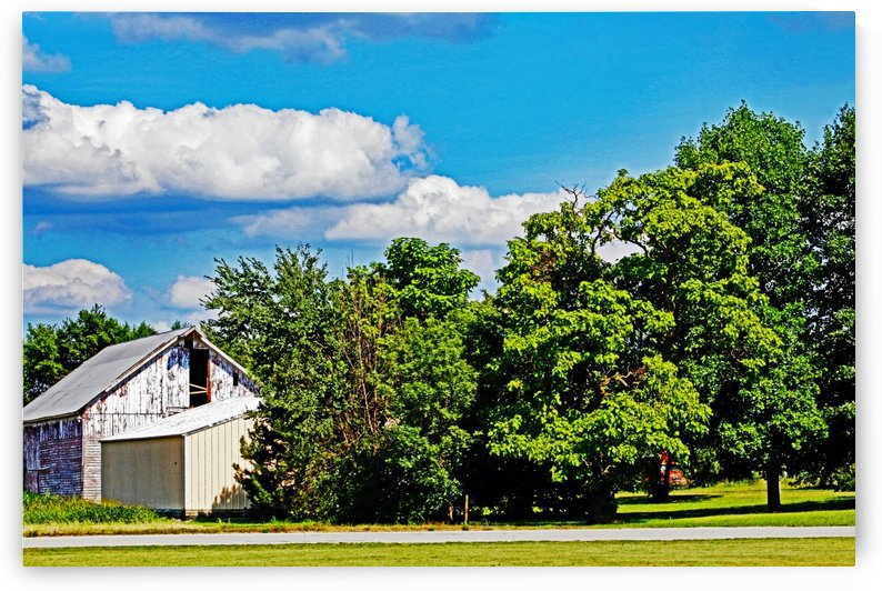 Storm Clouds Over the Barn 1 by Don  Baker