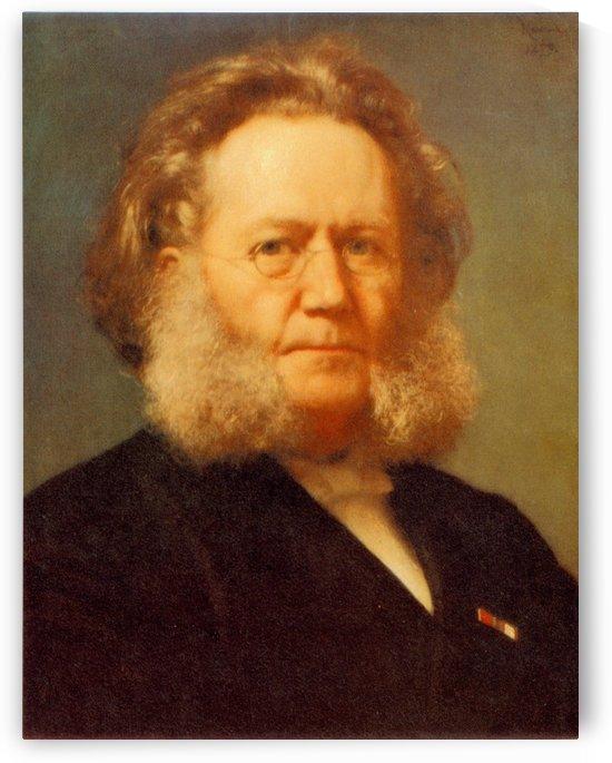 Portrait of Henrik Ibsen by Henrik Olrik