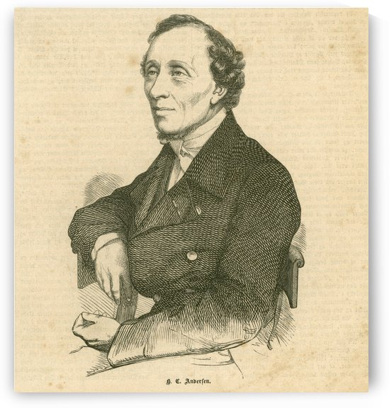 Hans Christian Andersen portrait by Henrik Olrik