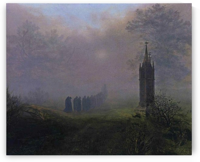Procession in the Mist by Ernst Ferdinand Oehme