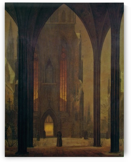 Cathedral during Winter by Ernst Ferdinand Oehme