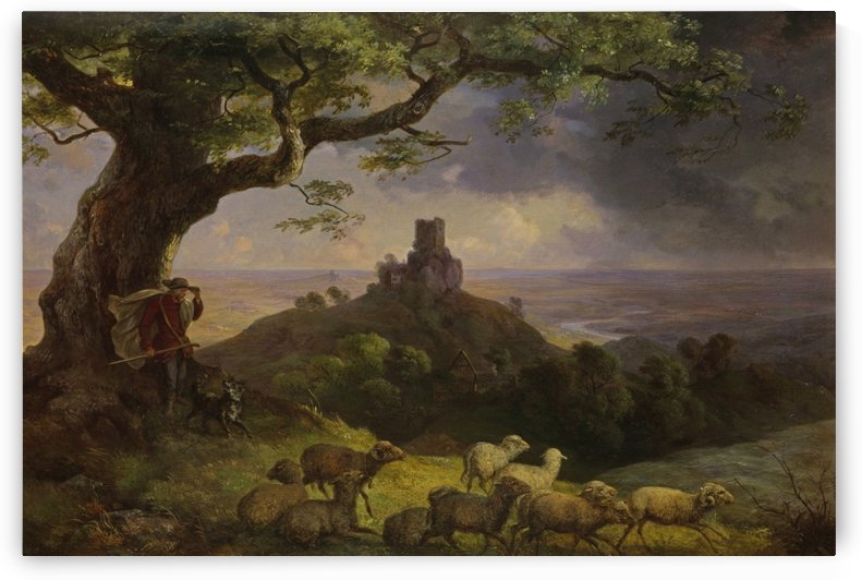 The ruin of Kamaik in Bohemia by Ernst Ferdinand Oehme