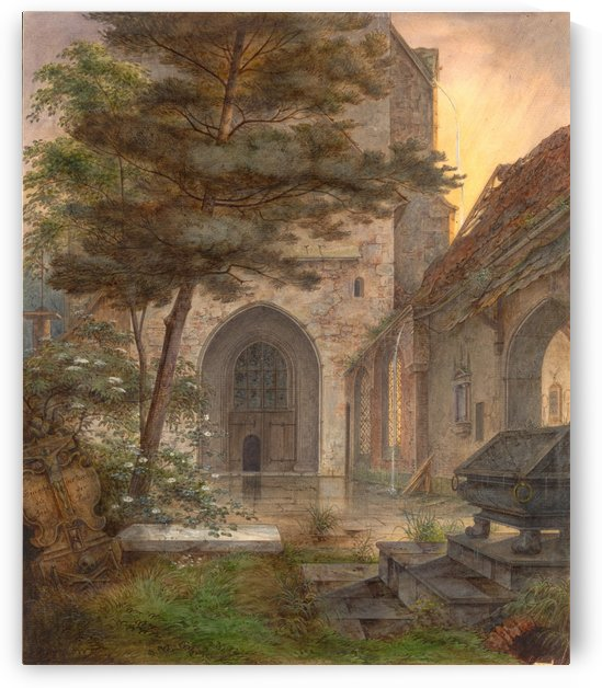 An arch portal of a church by Ernst Ferdinand Oehme