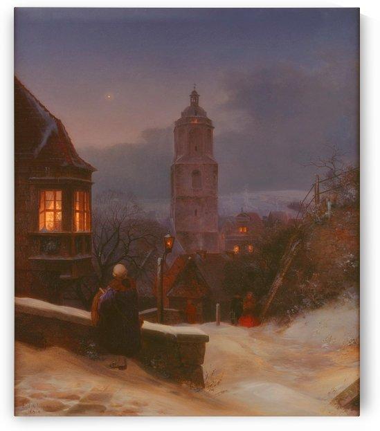 Meissen in Winter by Ernst Ferdinand Oehme