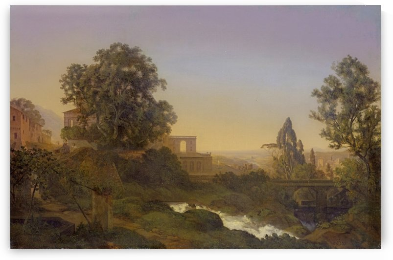 Villa d'Este in Tivoli by Ernst Ferdinand Oehme