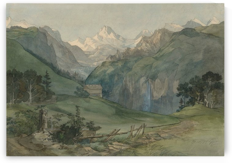 View in the Alps by Ernst Ferdinand Oehme