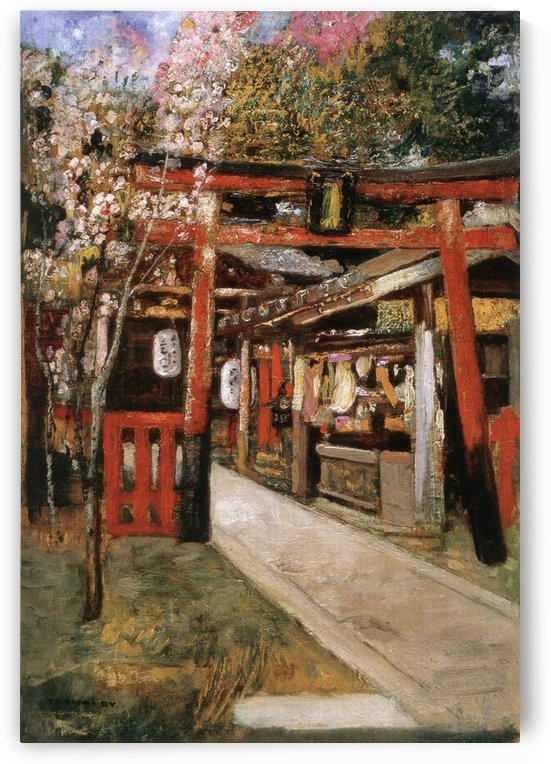 Entrance of a Church in Kyoto by Gyula Tornai