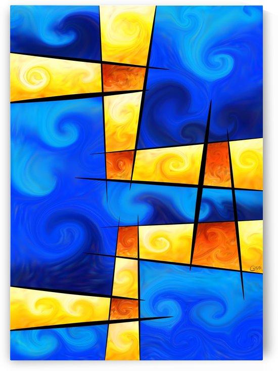 Fergussos V1 - digital abstract by Cersatti Art