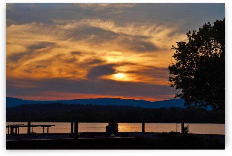 Sunset on the Shores of Ticonderoga by Jarrod Sammis