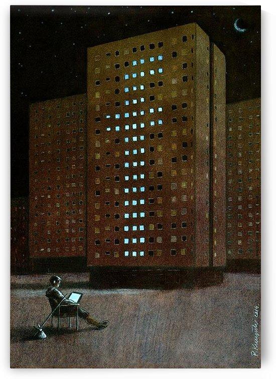 Alone in the crowd by Pawel Kuczynski