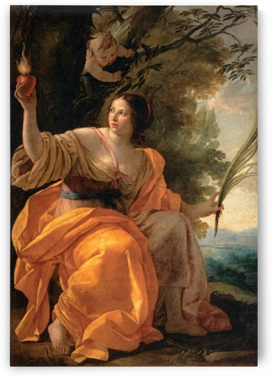 Heavenly Charity by Simon Vouet