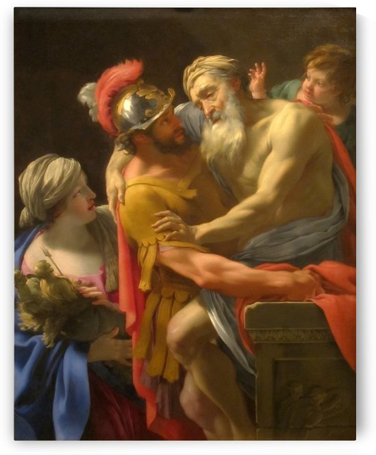 Aeneas and his father fleeing Troy by Simon Vouet