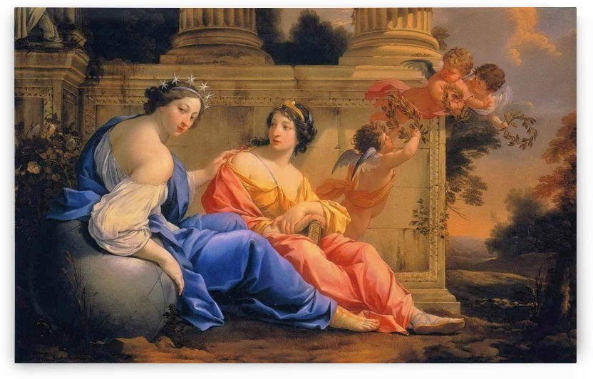 The Muses Urania and Calliope by Simon Vouet